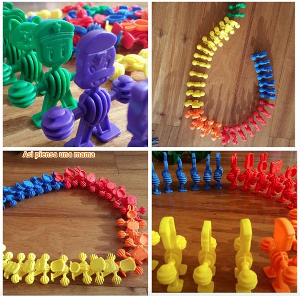 efecto domino con figuras