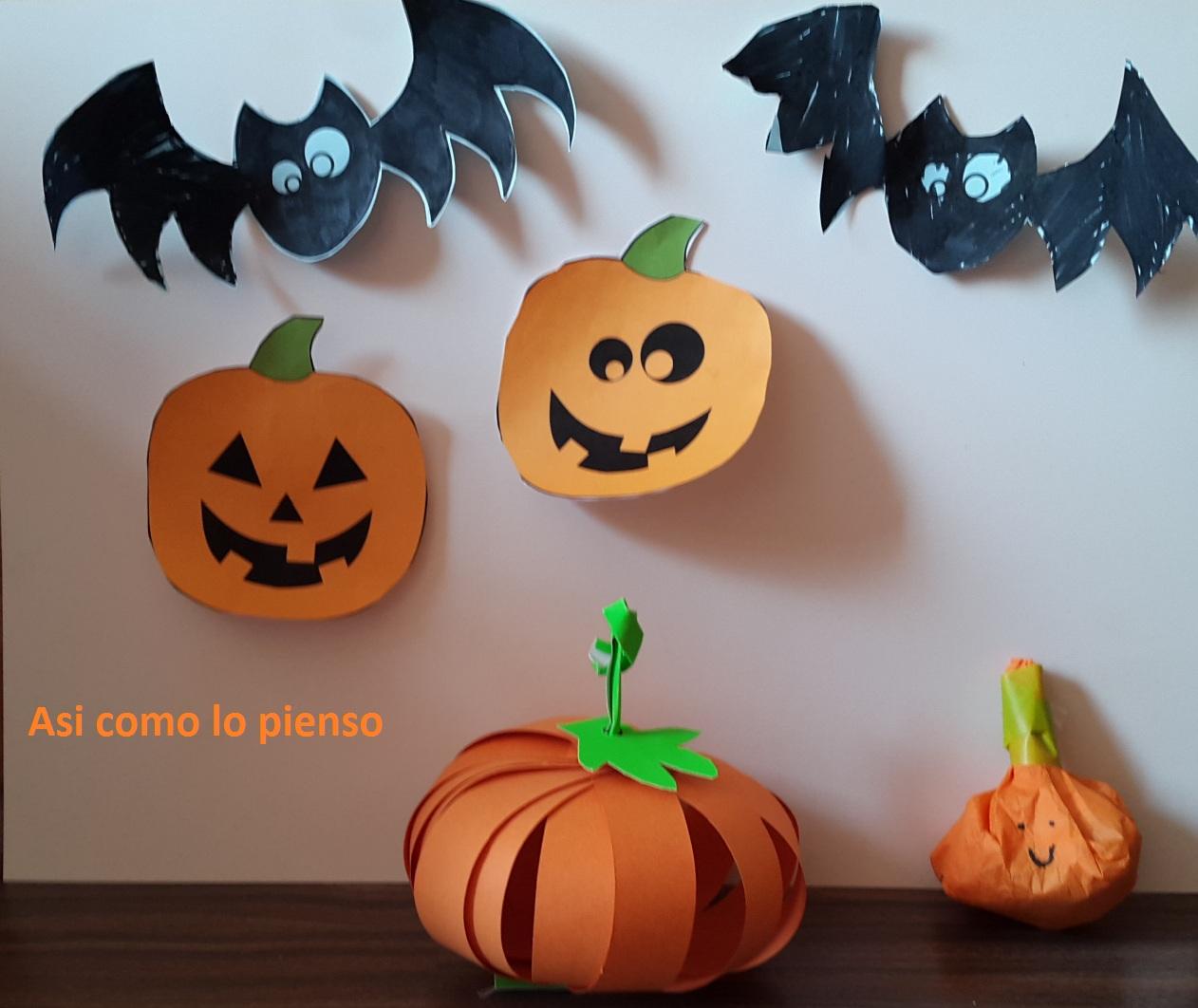 Preparados Para Halloween Asi Piensa Una Mama - Calabaza-de-papel