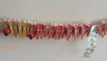 cadena anual DIY-manualidades con niños