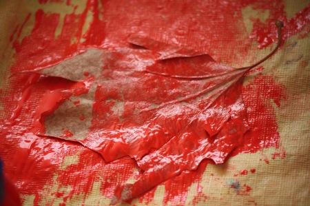 hojas pintar
