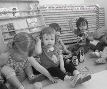 niños en guarderia